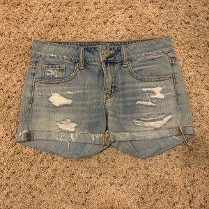 American Eagle Distressed Denim Shorts Size 2